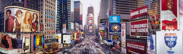 Rise Above Wall Art - Photograph - Dusk, Times Square, Nyc, New York City by Panoramic Images
