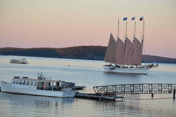 Bar Tender Photograph - Dusk With Margaret Todd At Frenchman's Bay Maine by Lena Hatch