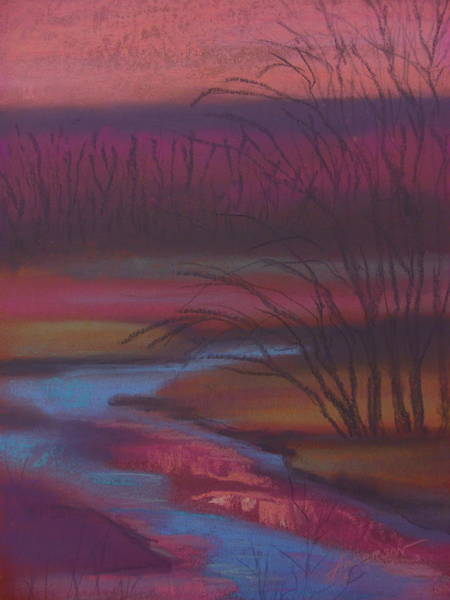 Pastel - Dusky Drama At Catfish Corner by Sherri Anderson