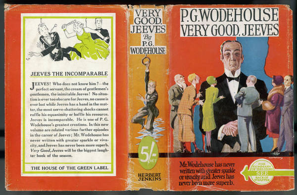 Dust Drawing - Dust Jacket Of 'very Good,  Jeeves' by Mary Evans Picture Library