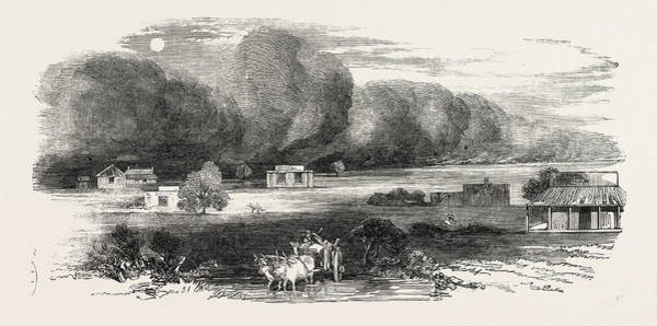 Dust Drawing - Dust Storm In The Punjab by English School