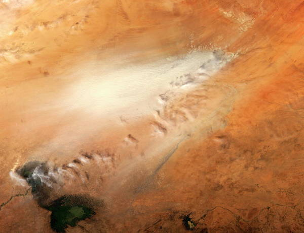 Depression Photograph - Dust Storm by Nasa/science Photo Library