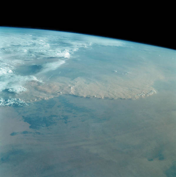 Sahara Photograph - Dust Storm Over Sahara Desert From Space Shuttle by Nasa/science Photo Library