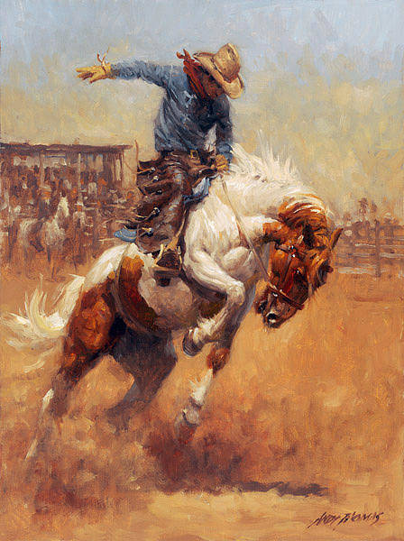 Digital Art - Dusty Bronc by Andy Thomas