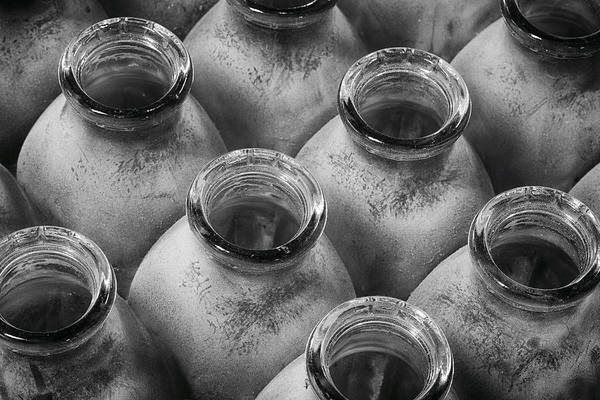 Photograph - Dusty Milk Bottles by Denise Bush