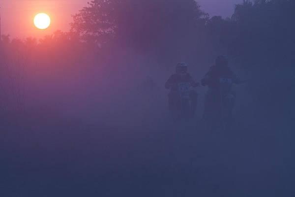 Kerala Photograph - Dusty Misty Dawn by Gulfu Photography