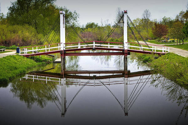 Photograph - Dutch Supension Bridge On Windmill Island by Randall Nyhof