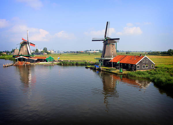 Photograph - Dutch Windmills by Nancy Ingersoll