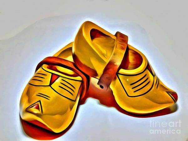 Wooden Shoe Digital Art - Dutch Wooden Shoes by Sandra Workala