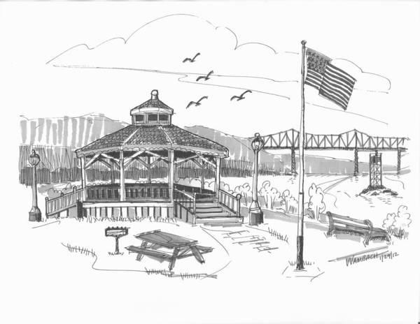 Drawing - Dutchmen's Landing Catskill by Richard Wambach