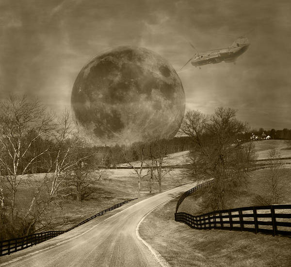 Super Moon Photograph - Duty Calls by Betsy Knapp