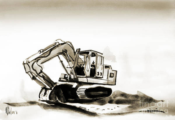 Painting - Duty Dozer In Sepia by Kip DeVore