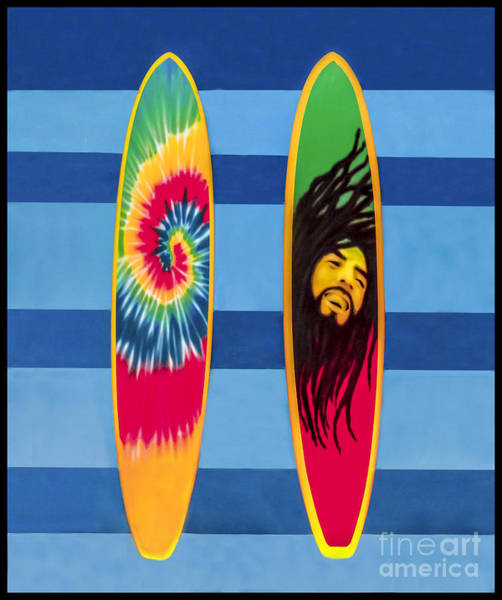 Photograph - Duvet Cover Bob Marley Surfing Display by Gary Keesler