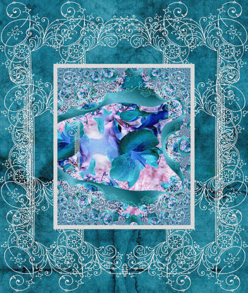 Photograph - Duvet Teal Flower by Robert Kernodle