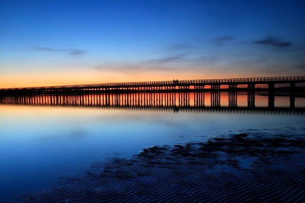 Wall Art - Photograph - Duxbury Beach Powder Point Bridge Twilight by John Burk