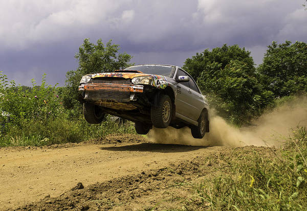 Wrx Photograph - Dw Rally Team Takes Flight by Jason Massey