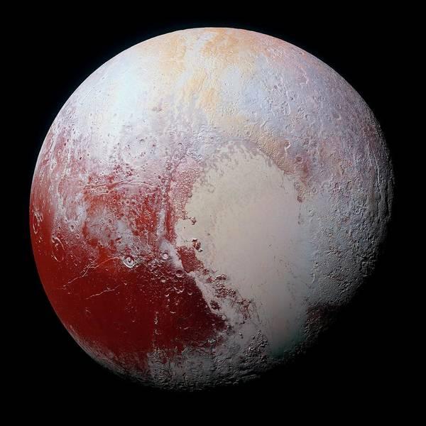 Black Ice Photograph - Dwarf Planet Pluto by Nasa/jhuapl/swri