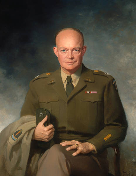 Artistry Painting - Dwight D Eisenhower by Mountain Dreams