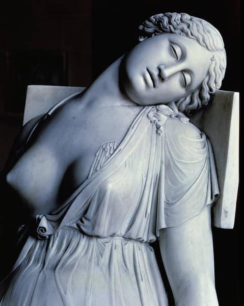 Suicide Painting - Dying Lucretia  by Damian Buenaventura Campeny y Estrany