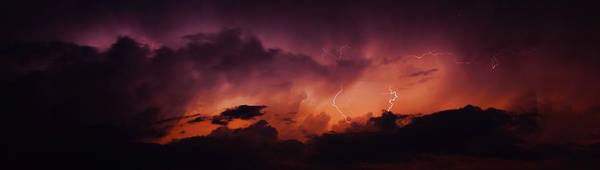 Photograph - Dying Storm Cell With Fantastic Lightning by NebraskaSC