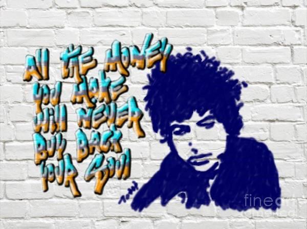Digital Art - Dylan Graffiti2 by Laura Toth