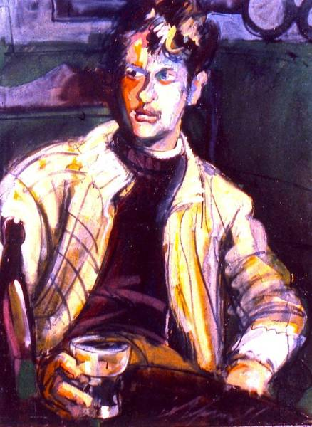Painting - Dylan Thomas by Les Leffingwell