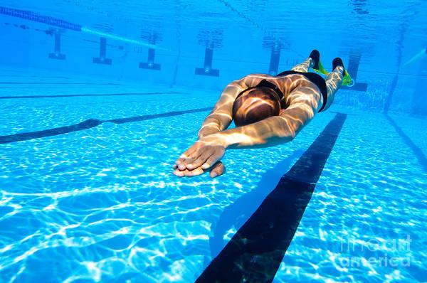 Free Dive Wall Art - Photograph - Dynamic Apnoea by Hagai Nativ