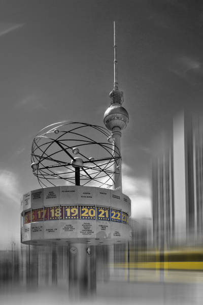 Town Square Wall Art - Photograph - Dynamic-art Berlin City-centre by Melanie Viola
