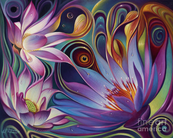Painting - Dynamic Floral Fantasy by Ricardo Chavez-Mendez