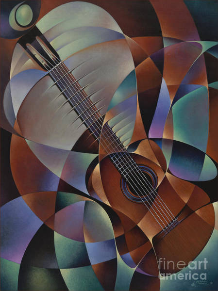 Painting - Dynamic Guitar by Ricardo Chavez-Mendez