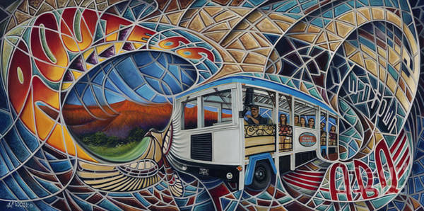 Painting - Dynamic Route 66 II by Ricardo Chavez-Mendez
