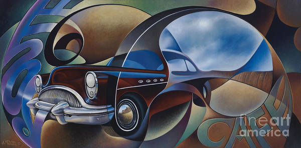Painting - Dynamic Route 66 by Ricardo Chavez-Mendez