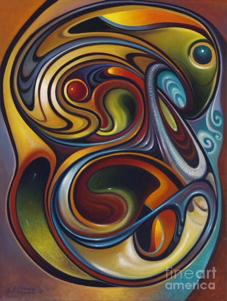 Colored Glass Painting - Dynamic Series #15 by Ricardo Chavez-Mendez