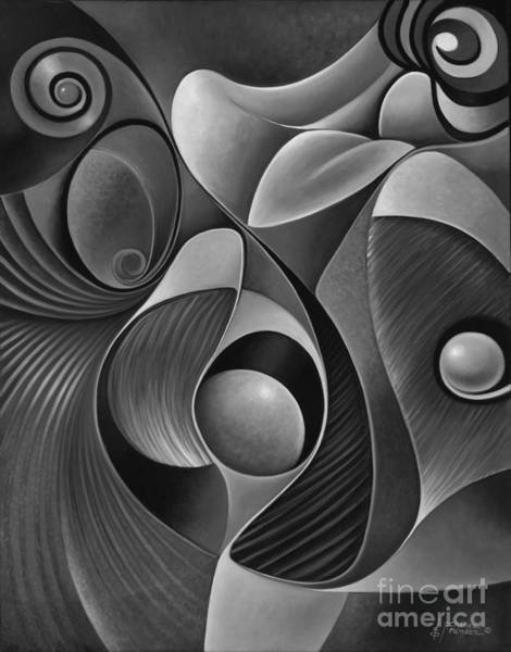 Painting - Dynamic Series 22-black And White by Ricardo Chavez-Mendez