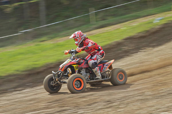 Dirtbike Photograph - Dynamic Shot Of Quad Racer  by Jaroslav Frank