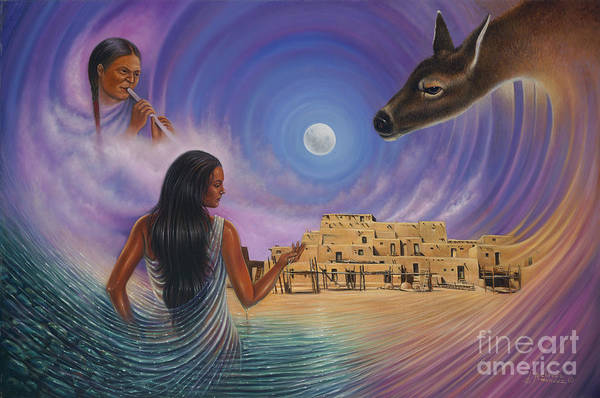 Pueblo Painting - Dynamic Taos Il by Ricardo Chavez-Mendez