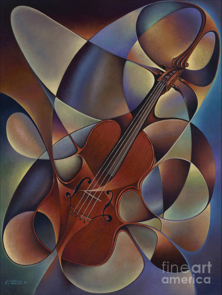 Painting - Dynamic Violin by Ricardo Chavez-Mendez