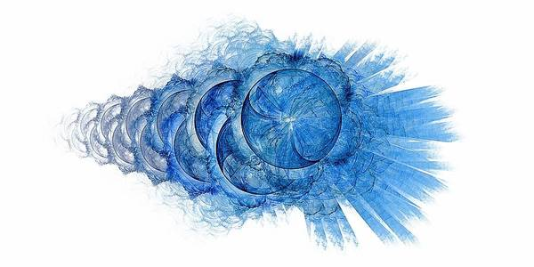 Cheerleaders Digital Art - Dynamo-blue by Doug Morgan