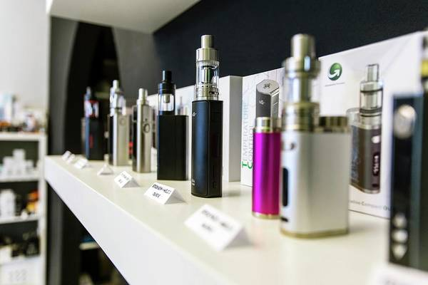 Branding Photograph - E-cigarette Dispensers by Stg/jonas Gilles/reporters/science Photo Library
