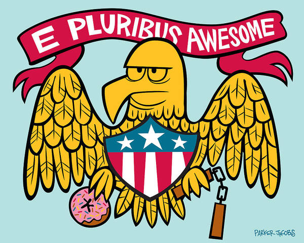 Seal Digital Art - E Pluribus Awesome by Parker  Jacobs