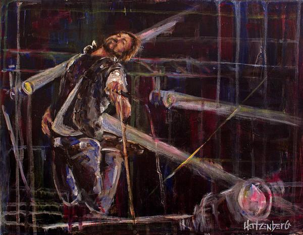 Pearl Jam Painting - E Vedder by Josh Hertzenberg