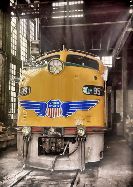 Wall Art - Photograph - E9 951 In The Roundhouse In Cheyenne by Ken Smith