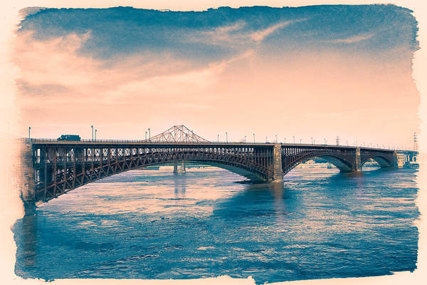 Photograph - Eads Bridge Cyanotype by Robert FERD Frank