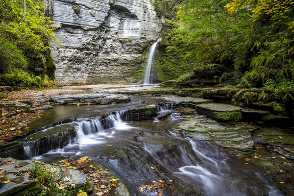 Photograph - Eagle Cliff Falls by Jim Dollar
