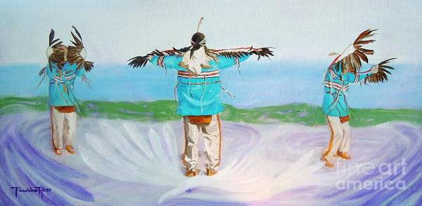 Wall Art - Painting - Eagle Dance by Pauline Ross