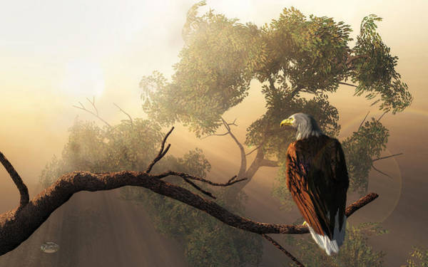 Digital Art - Eagle Dawn by Daniel Eskridge
