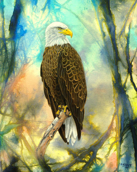 Wall Art - Painting - Eagle In Abstract by Paul Krapf