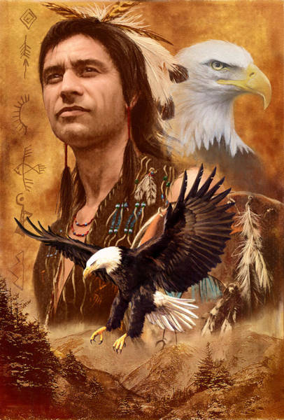 Native American Photograph - Eagle Montage by MGL Meiklejohn Graphics Licensing