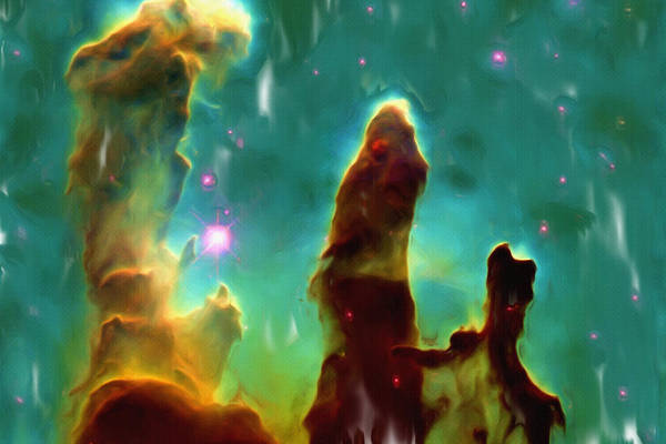 Messy Painting - Eagle Nebula 2 by Inspirowl Design