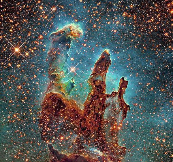Legacy Wall Art - Photograph - Eagle Nebula's Pillars Of Creation by Hubble Legacy Archive/nasa/esa/robert Gendler/science Photo Library